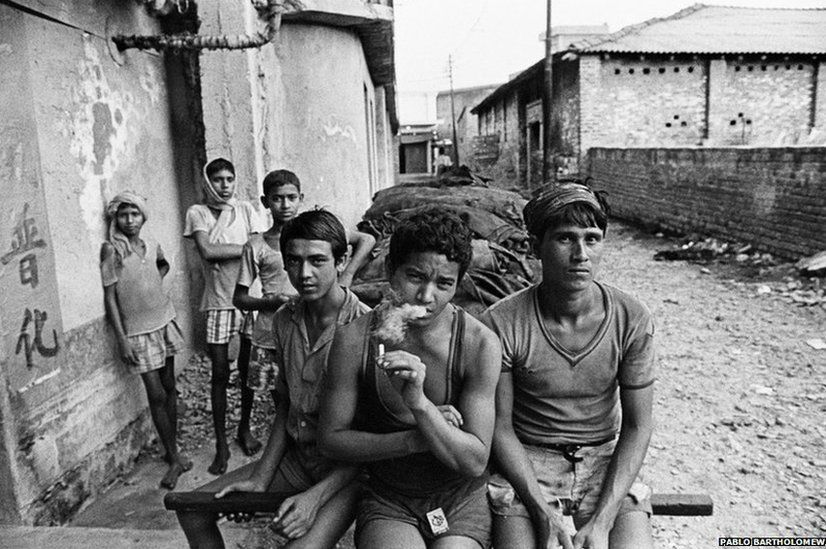 Tannery workers, Chinatown, 1978