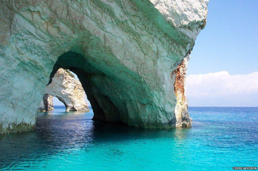 The Blue Caves in Zakynthos (Zante), Greece
