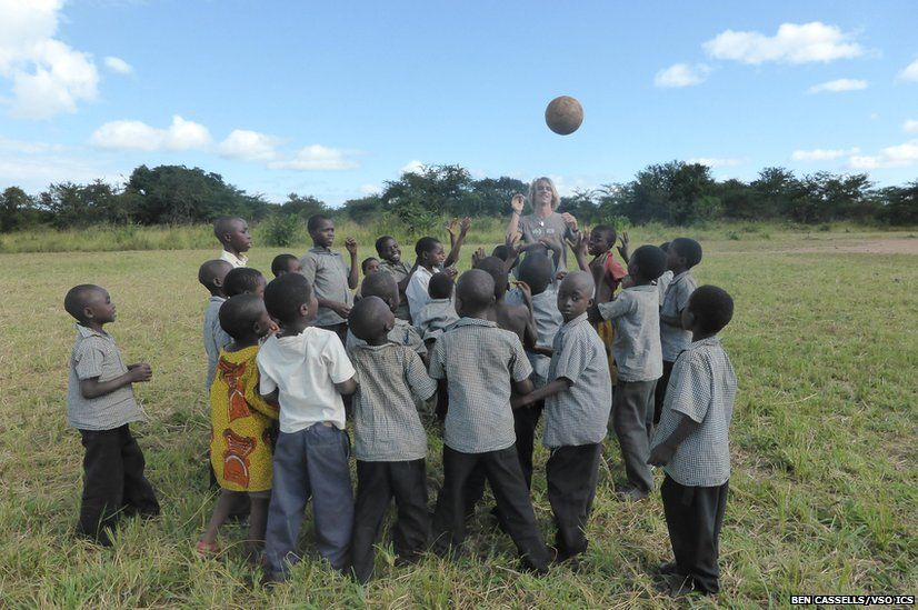 Zambia's Walter Herbert primary school children learning about the benefits of sports and exercise