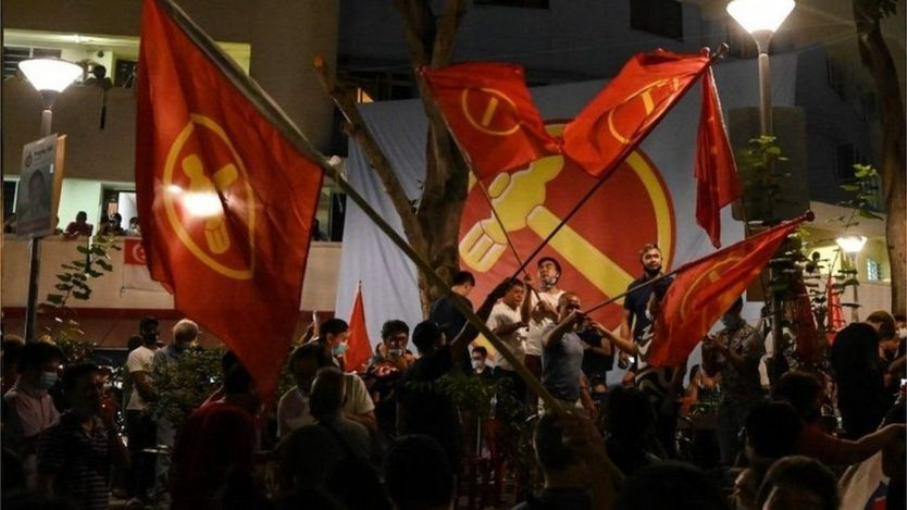 Supporters of the Workers' Party celebrated on the streets