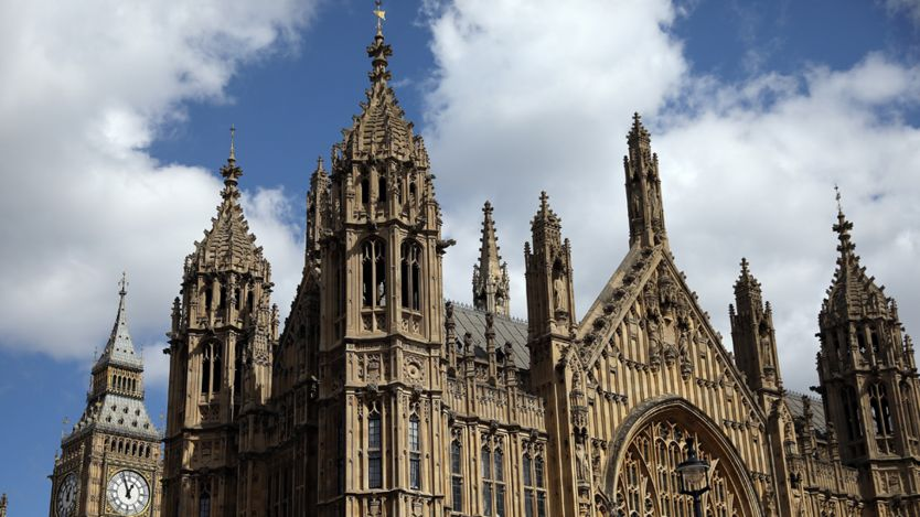 Spires at the Palace of Westminster