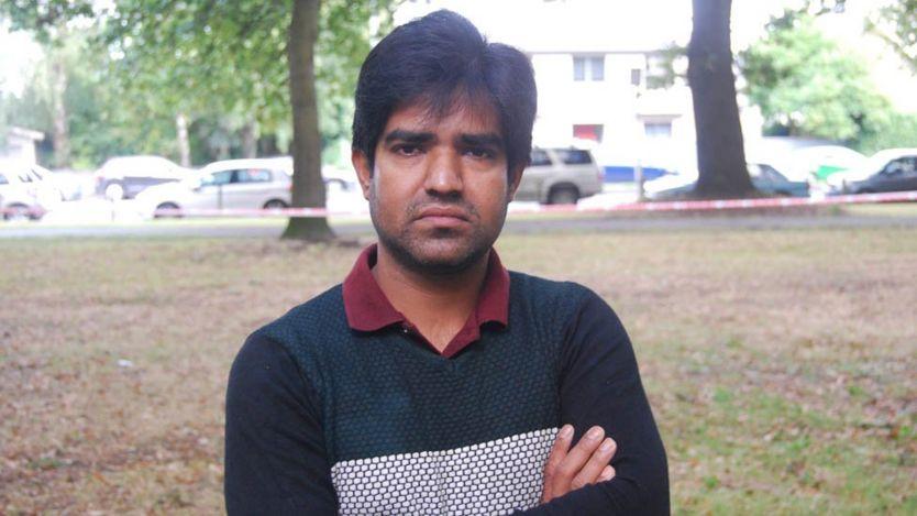 Nasir Uddin in Hagley Park, Christchurch