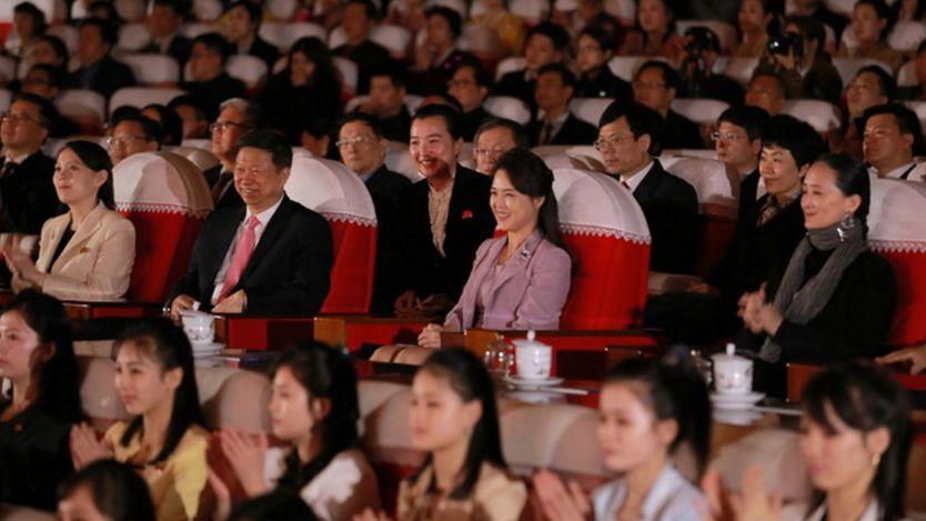 North Korean first lady Ri Sol-ju at the theatre