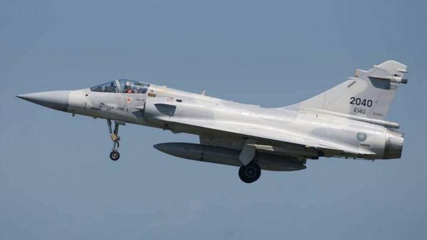 台灣空軍現有55架幻像2000-5型戰鬥機,圖為這次失蹤的戰機相片。