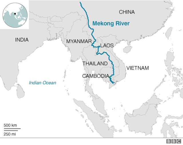 The Mekong river