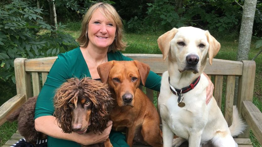 Claire Guest and her dogs