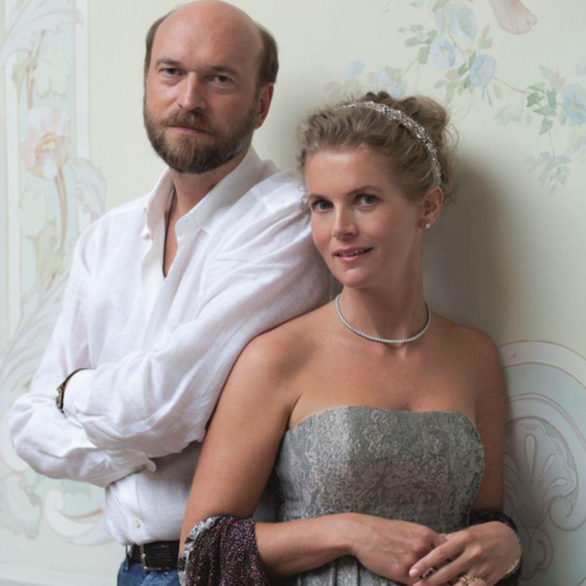 Portrait photo of Sergei Pugachev and Alexandra Tolstoy