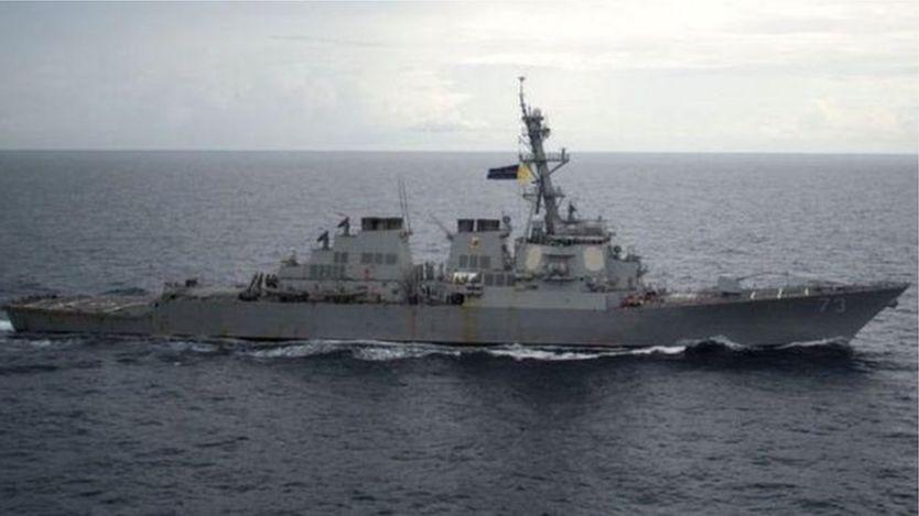 Tàu khu trục USS Decatur tuần tra gần Quần đảo Hoàng Sa hổi tháng 10/2016, trong chương trình Mỹ gọi là hoạt động tự do hàng hải