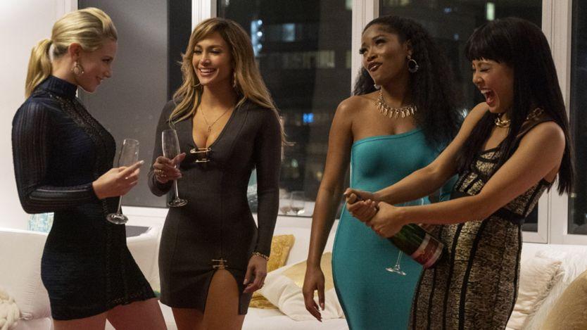 Lili Reinhart, Jennifer Lopez, Keke Palmer and Constance Wu in Hustlers