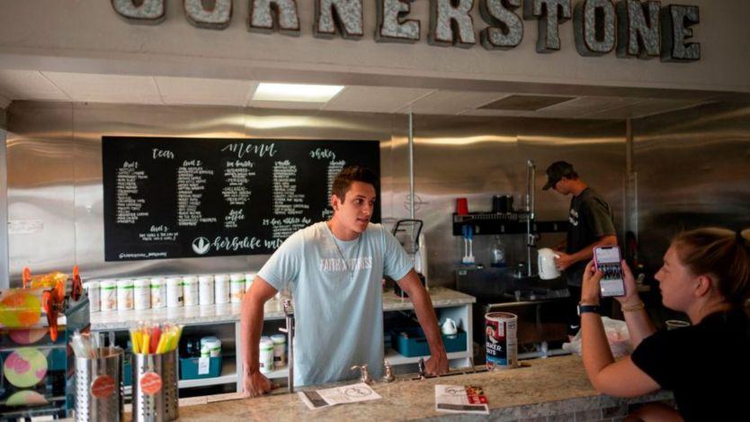 Una cafetería en la localidad de Stillwater, en Oklahoma (EE.UU).