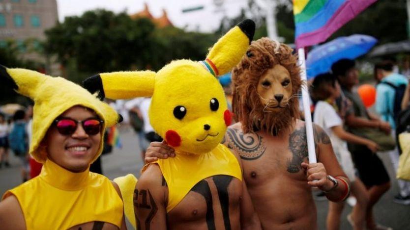 Những người đồng tính và chuyển giới (LGBT) tham gia tuần hành tại Đài Bắc ngày 29/10/2016