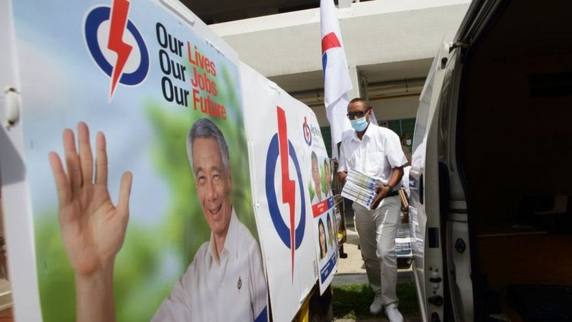 Singapore ruling PAP party wins elections