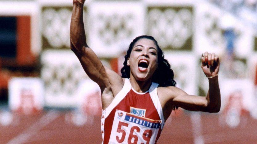 Florence Griffith-Joyner en Seúl, 1988