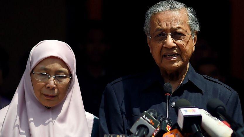 Wan Azizah dan Mahathir Mohamad