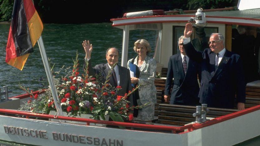 Francois Mitterant và Helmut Kohl