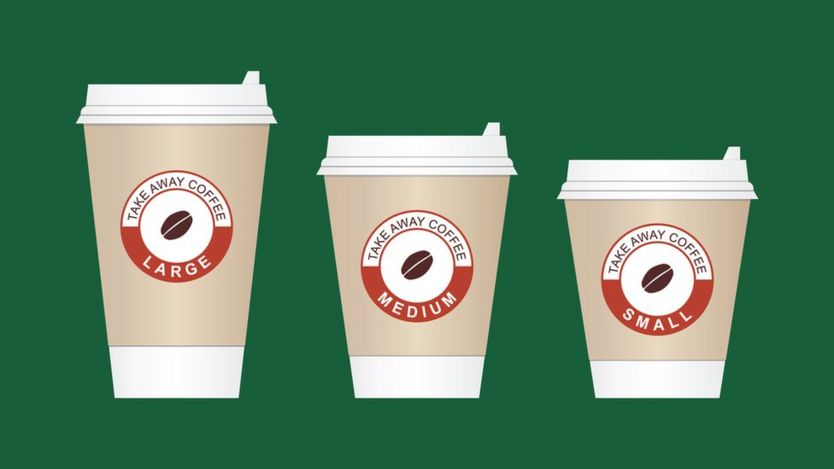 Tazas de café de distintos tamaños
