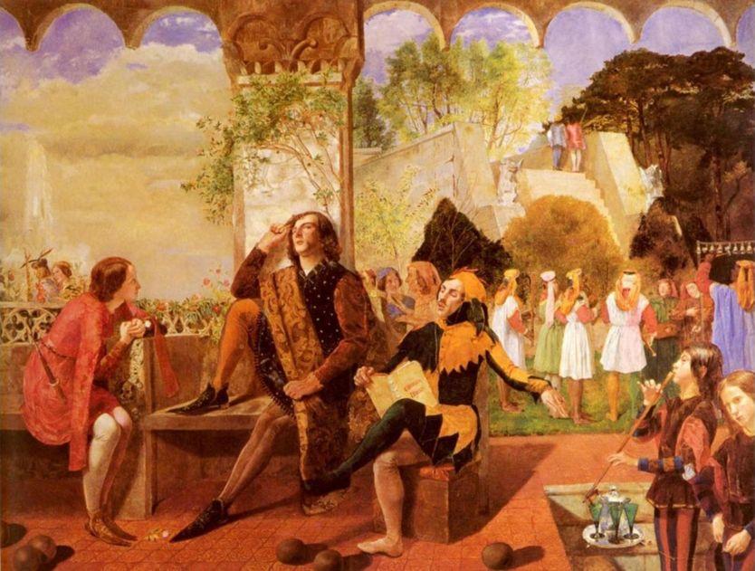 'Twelfth Night' (c. 1850), de Walter Howell Deverell