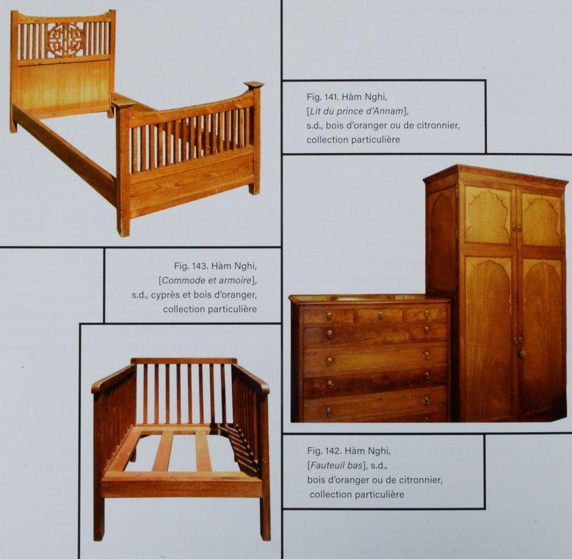 Mẫu giường tủ do vua Hàm Nghi chế tác