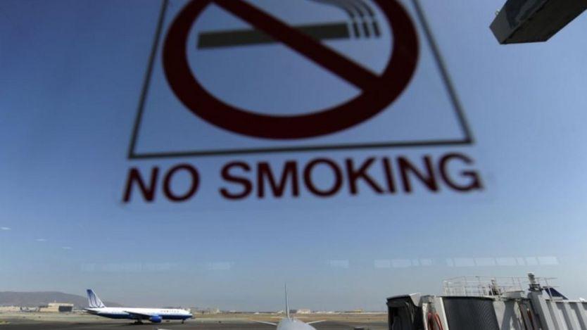 """Знак """"не курить"""" в аэропорту"""