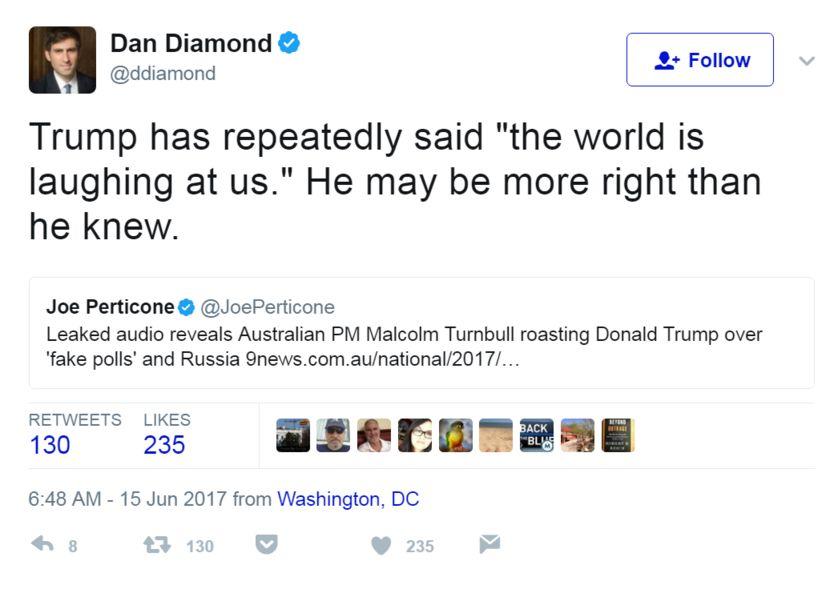 Politico muhabiri Dan Diamond'den Tweet: Trump tekrar tekrar söyledi