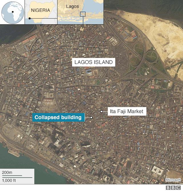 Lagos Island map