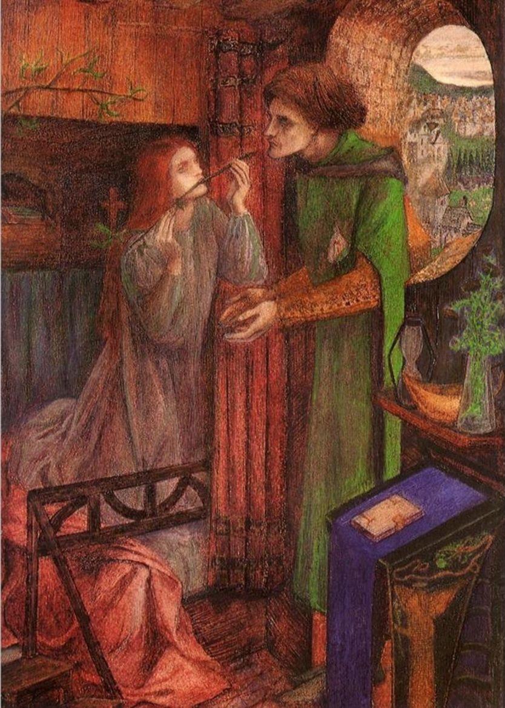 Clerk Saunders (1857), de Elizabeth Siddal