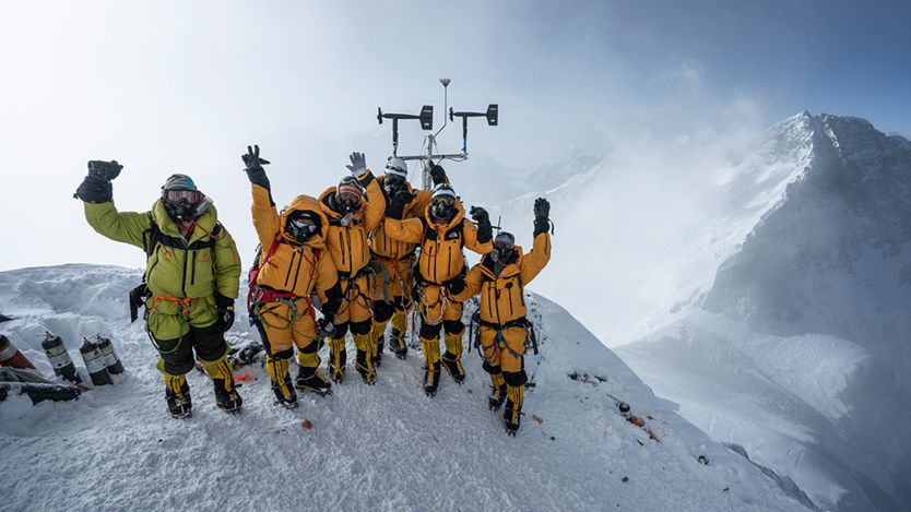 Weather station on Everest