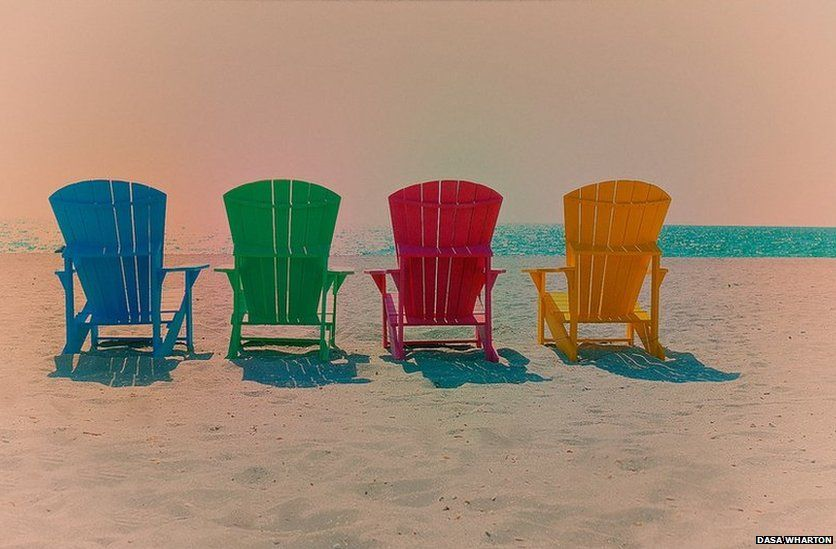 Different coloured chairs
