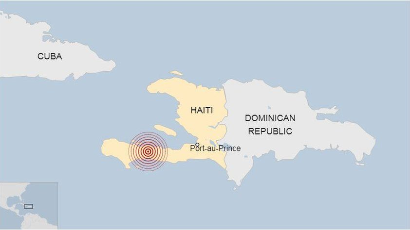 Map of the epicenter