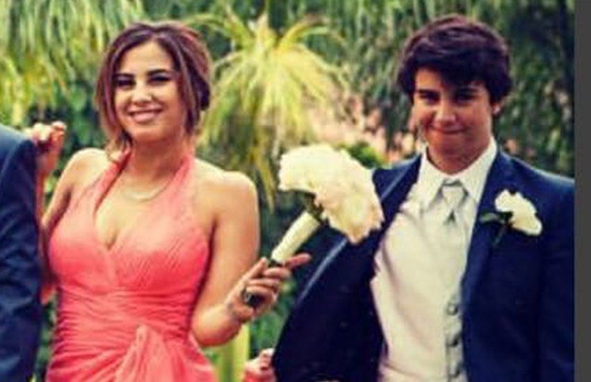 Chelsea and Christian at their elder sister's wedding last year