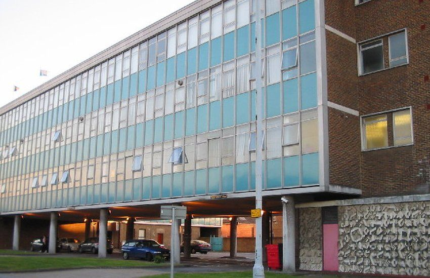 Building shown in open credits of the Office in Slough