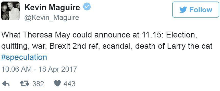 Screen grab of tweet by @Kevin_Maguire