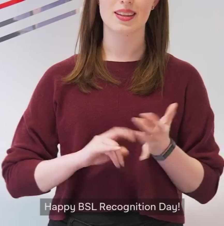 Screengrab from the Labour Party video: BSL Recognition Day