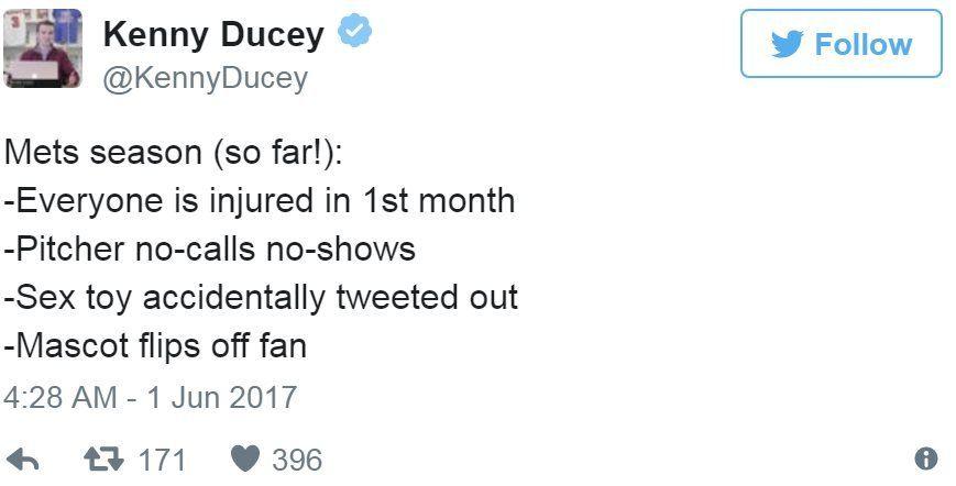 Screen grab of tweet by @KennyDucey