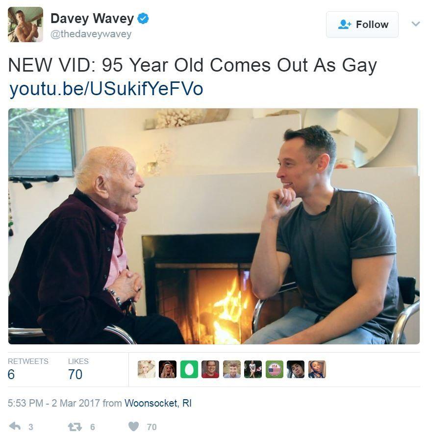 Screengrab of tweet by Davey Wavey
