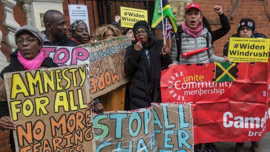Protest against deportation flights