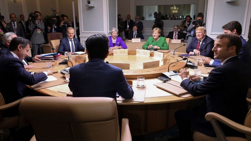 Reunión de los líderes del G7 en Quebec, Canadá, junio 8 de 2018