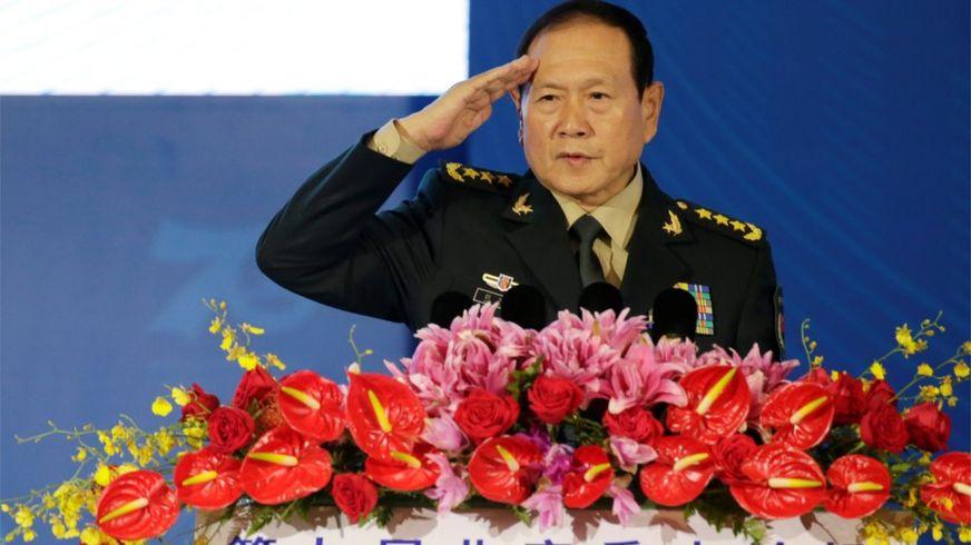 Bộ trưởng Quốc Phòng Trung Quốc Ngụy Phượng Hòa tại lễ khai mạc Diễn đàn Hương Sơn thứ 9 tại Bắc Kinh hôm 21/10