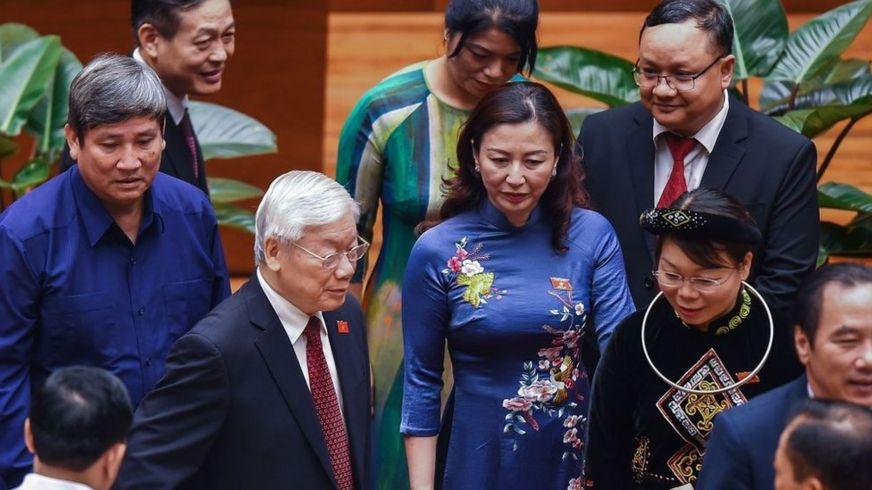 Chủ tịch nước Nguyễn Phú Trọng dự họp Quốc hội hôm 21/10/2019
