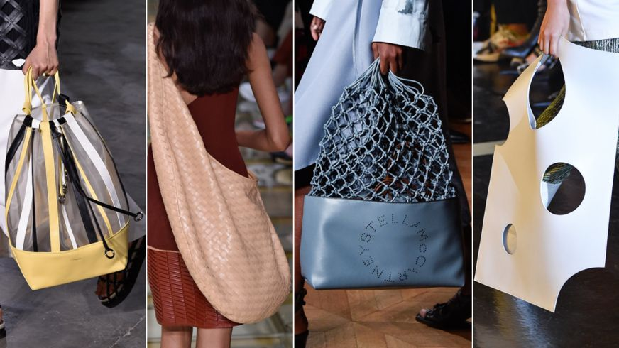Сумки от Philip Lim, Bottega Veneta, Stella McCartney и Off-White (слева направо)