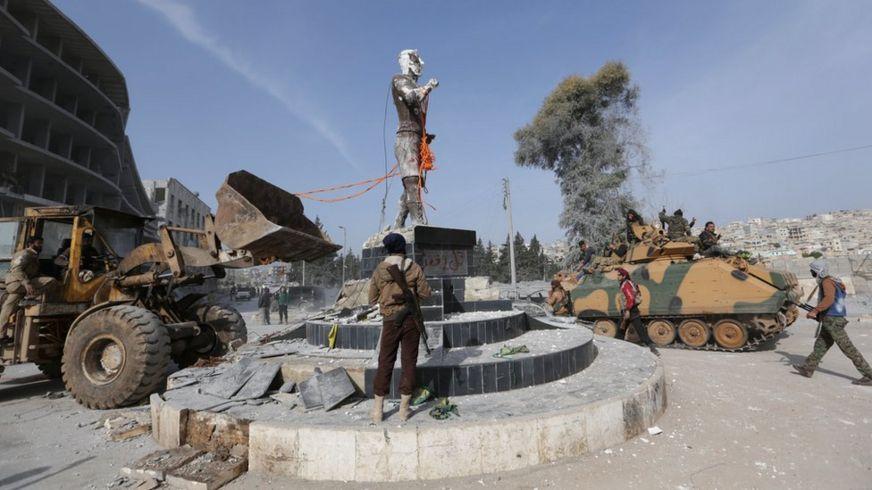 تمثال كاوة الحداد في عفرين