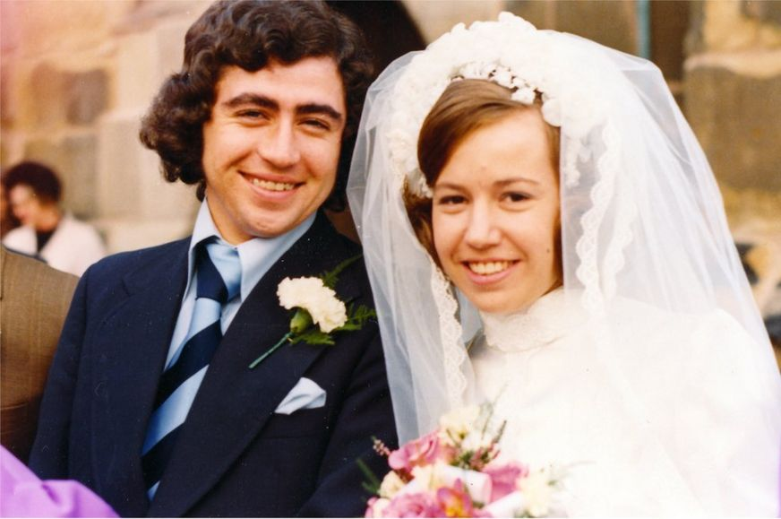 Don and Irene on their wedding day, 1973