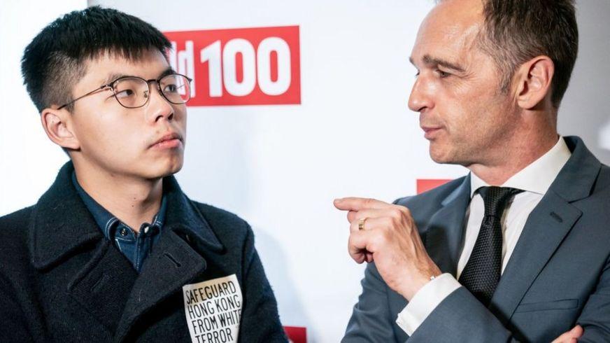 Joshua Wong trò chuyện cùng Ngoại trưởng Đức Heiko Maas tại sự kiện Bild100-Party hôm 8/9