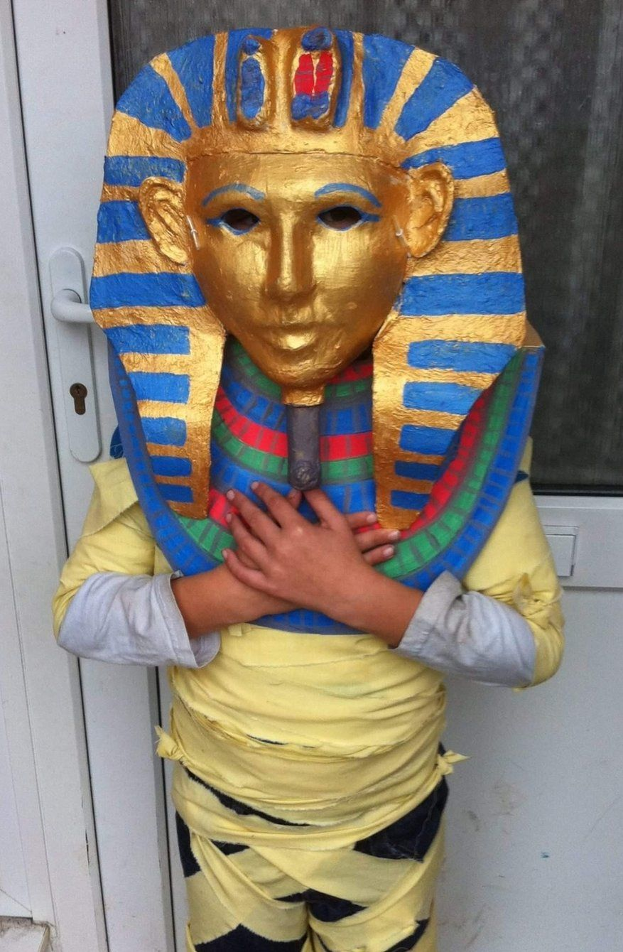 Child in mummy costume