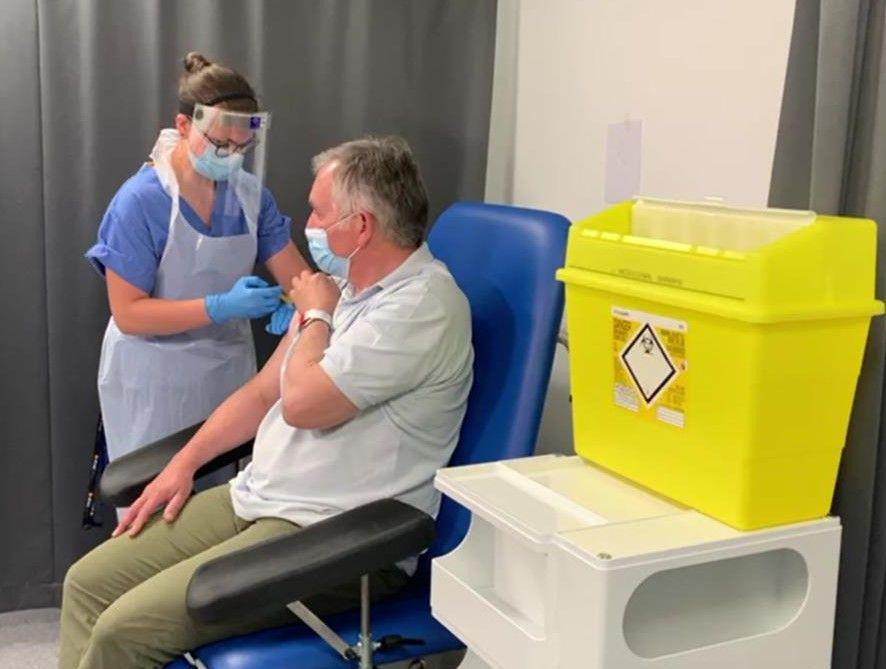 Prof Alex Brown gets a third dose of vaccine