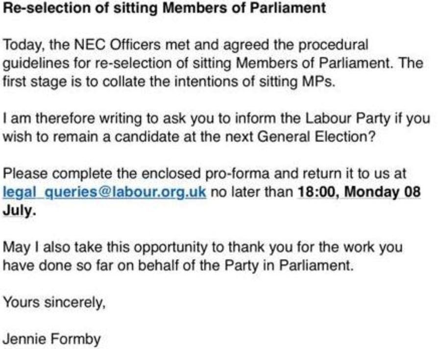 Screenshot of Formby letter