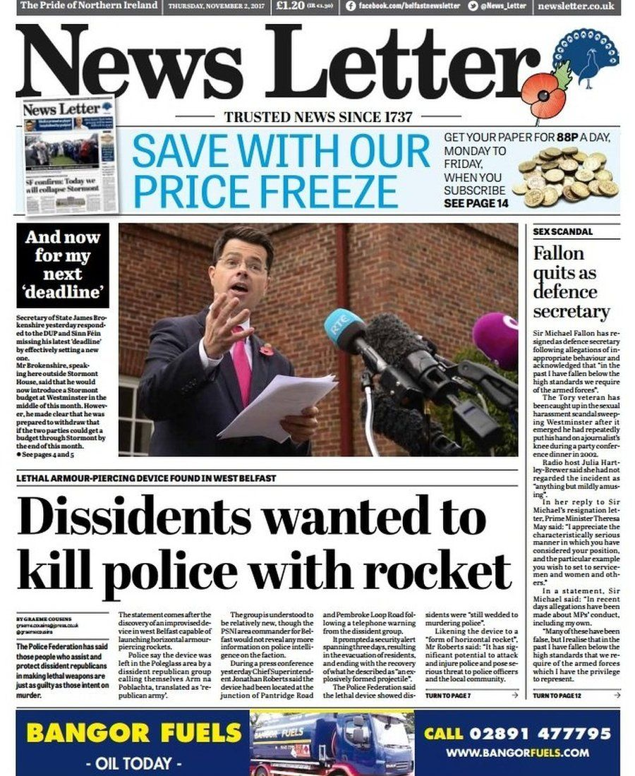News Letter front page 02/11/17