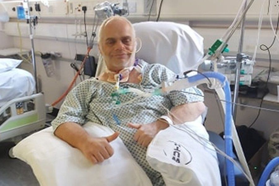 Darren Hiles in hospital