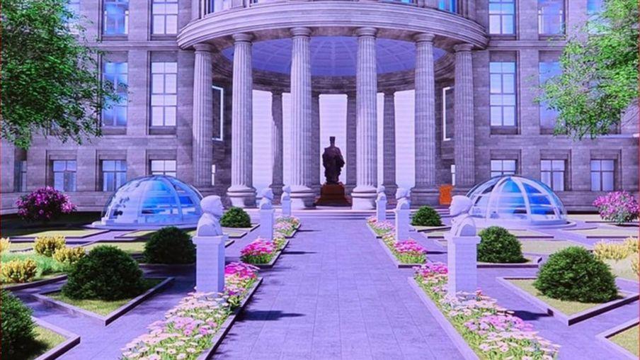 Mô hình TAND Tối cao với tượng Lý Thái Tông