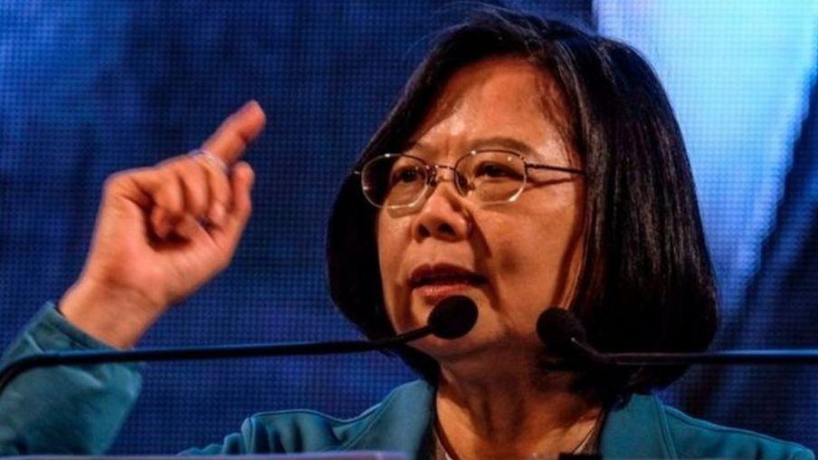 Tổng Thống Đài Loan Thái Anh Văn trong một cuộc vận động tranh cử ngày 5/1/2020